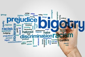 Bigotry word cloud concept